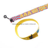 Promotional Fastener Sublimation Satin Clip Ribbon Fabric Textile Woven Wristbands for Music Festival Events