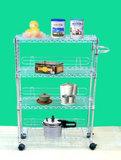 4 Tiers Multifunction Adjustable Utility Kitchen or Hospital Trolley (CJ-B1069)