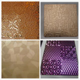 201 304 Color Polish Emboss Hotel Decoration Stainless Sheet