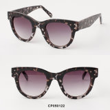 2017 High quality Fashion Cateye Sunglasses with Cp Injection Temples