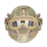 Tactical Military Protective Full Face Mask Helmet with Goggles Cl9-0077