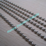 3.2mm Nickel Plated Key Hanging Beaded Metal Ball Chain