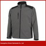 OEM Factory Custom Design Softshell Fleece Grey Men Jackets (J76)