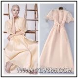 American Fashion Lady′s Organza Dress Elegant Long Party Evening Dress