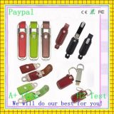 High Quality Leather USB Flash Disk (gc-p677)