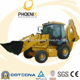 Low Price Backhoe Loader with Cummins Engine (1m3 Bucket Capacity)