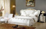 New Classic Silver Color Leather Bed (8083)