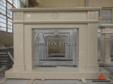 Artificial Marble Royal Beige Carved Fireplace for Home Decoration