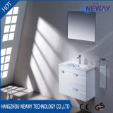 Wall Mounted PVC White Bathroom Vanity with Mirror