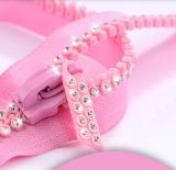 Fashion Pink Big Teeth Plastic Zipper