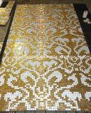 Gold Mosaic, Pattern Mosaic Art Mosaic Wall Tile (HMP648)