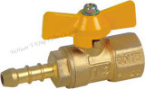 Butterfly Handle Brass Air Valve (YD-1044)