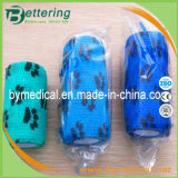 Dog Paw Printing Non Woven Cohesive Bandage