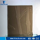 3-6mm Bronze Bamboo Patterned Glass with Ce&ISO9001