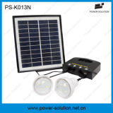 Solar Power Lighting System with 2 LED Lamps