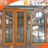 Arched Round-Top Casement Solid Pine and Larch Wood Window