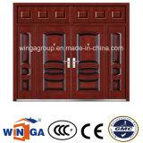Big House Using Iron Metal Entrance Security Steel Door (W-SD-09)