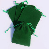 Cheap Green Velvet Pouch Jewelry Gift Pouch