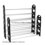 10-Tier Stackable and Adjustable Shoes Display Rack with Black Color