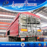 Tri-Axe Side Wall Semi Trailer Used for Bulk Cargo Transport