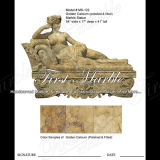 Hand-Carved Golden Travertine Sculpture for Home Decoration Ms-122