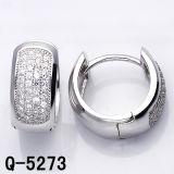 Fashion Jewelry Hoop Earrings 925 Silver (Q-5273)