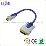 HDMI 19-Pin Plug to DVI Plug Digital Cable