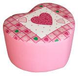 Love Heart Children Furniture Step Stool and Ottoman (SXBB-170)
