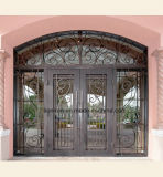Beautiful Security Custom Wrought Iron Grill Front Entry Door
