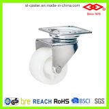 White Plastic Twin Wheel Caster (P190-30B050X30)