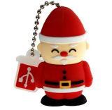 Santa Claus Shape Custom Mould PVC Keychain USB Pendrive (EG-503)