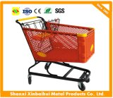 Plastic Supermarket Shopping Cart with Ce Certificate