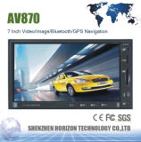 2 DIN 7 Inch Car Audio MP3/MP4/MP5/GPS Am/FM GPS Navigation/Bluetooth/Car MP5 Player for AV870