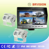 Car Security Camera System with LCD Quad Screen