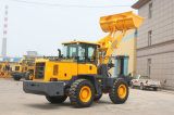 Rated Load 3 Tons Wheel Loader with Pallet Fork and Bucket