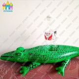 Water Inflatable PVC Crocodile Drink Cup Floats Holder in Factory