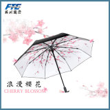 Sakura Printed Sun and Rain Folding Umbrella