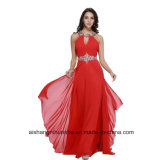 Women Beading Sleeveless Backless Evening Dress Prom Dress W004