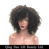 Hair Brazilian Kinky Curly Short Wig 8′′ 10′′ Can Be Dyed Full 310g 100% Remy Human Hair Wigs Natural Black Color