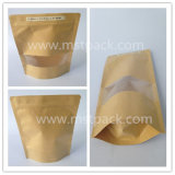 Kraft Paper Stand up Zipper Pouch with Window/ Doy Pouch