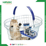 Metal Wire Round Oval Shopping Basket for Pharmacy Store