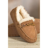 Classic Genuine Sheepskin Low Moccasin Shoes for Men