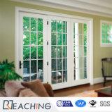 Horizontal Opening White UPVC Clear Fiberglass Doors for Balcony
