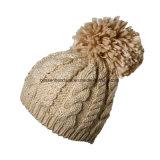 Factory Produce Custom White Acrylic Winter Knit Beanie Hat
