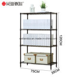 Multifunction 4 Tiers Adjustable Home Office Book Magazine Storage Steel Wire Shelving Rack