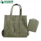Ecological Promotion Shopping Tote Nonwoven Foldable Bag with Snap Closure