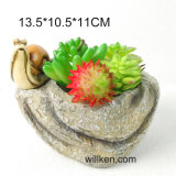 Simulation Stone Style Resin Succulent Pots for Sale