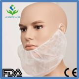 White Disposable Non-Woven Beard Cover