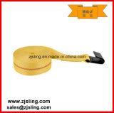 "Ratchet Winch Strap 2"" X 30′ Yellow Flat Hook"