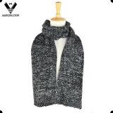 Black White Winter Knitted Men Scarf Muffler